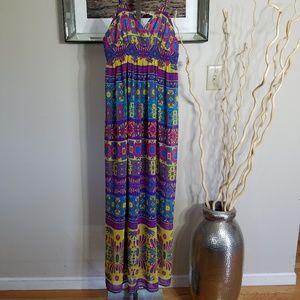 Maxi Backless Dress with Spagetti Straps Sz SP